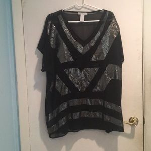 Sequence black Long blouse